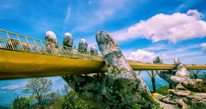 Golden Bridge located in Ba Na Hills