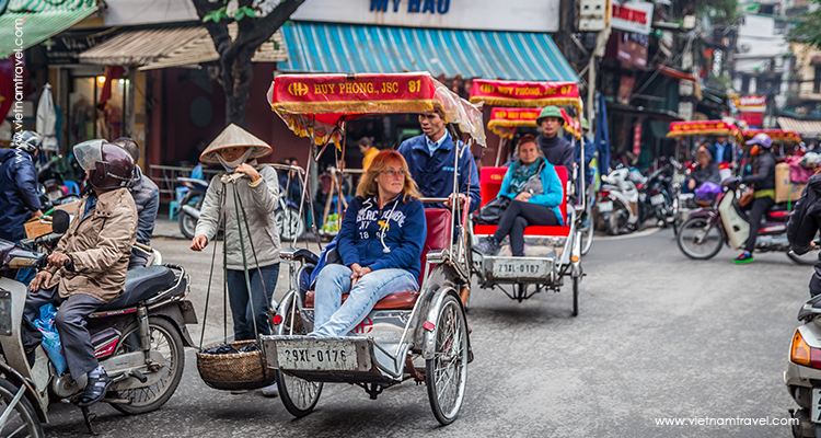 Cyclo in Hanoi - a symbol of vietnam capital
