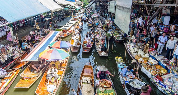 Day 8: Bangkok - Floating Market - City Tour.