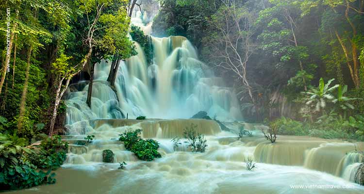 Day 13: Luang Prabang - Kuang Si Waterfall.