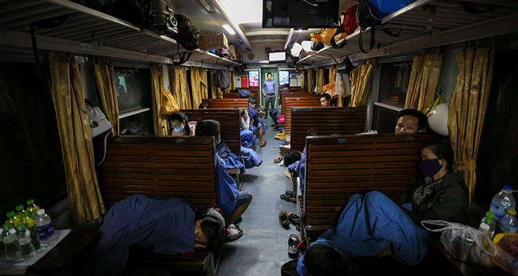 How safe with your stuff on overnight train.