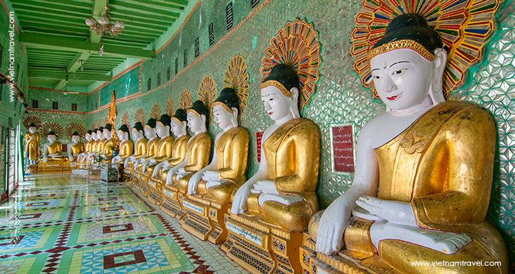 Day 5: Mandalay – Ubein Bridge at dawn – Amarapura – city tour – Sagaing.