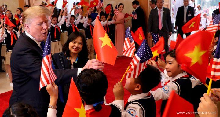 President Donald Trump in 2019 North Korea - United States in Hanoi Summit