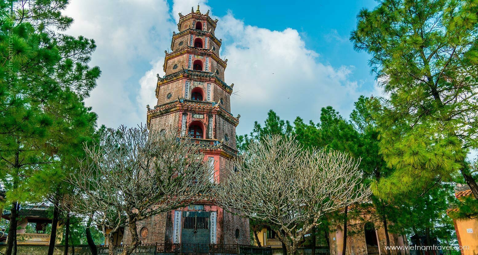 Bell tower in Thien Mu pagoda