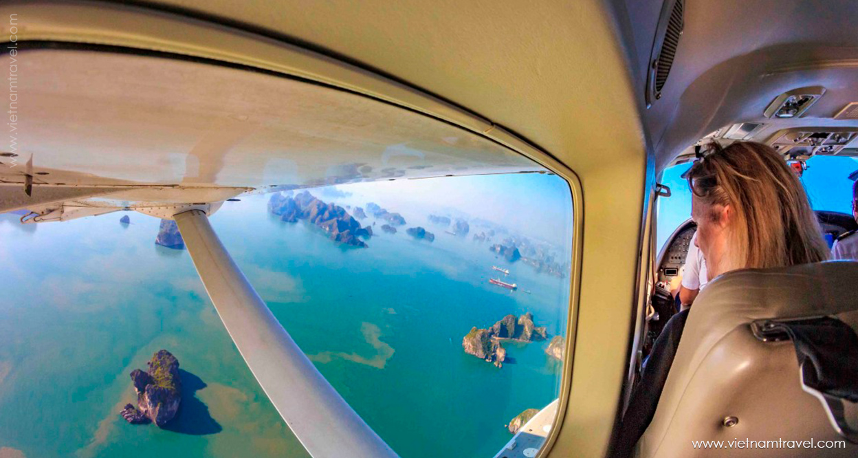 Getting mesmerized by the beauty of the Bay up in the air from Hai Au Seaplane