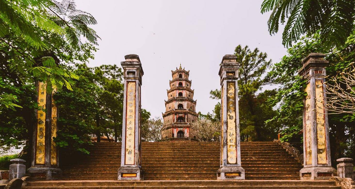 Thien Mu pagoda in the Covid 19 time