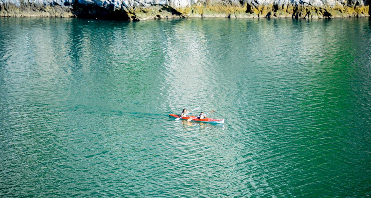 kayaking on ba ham lake