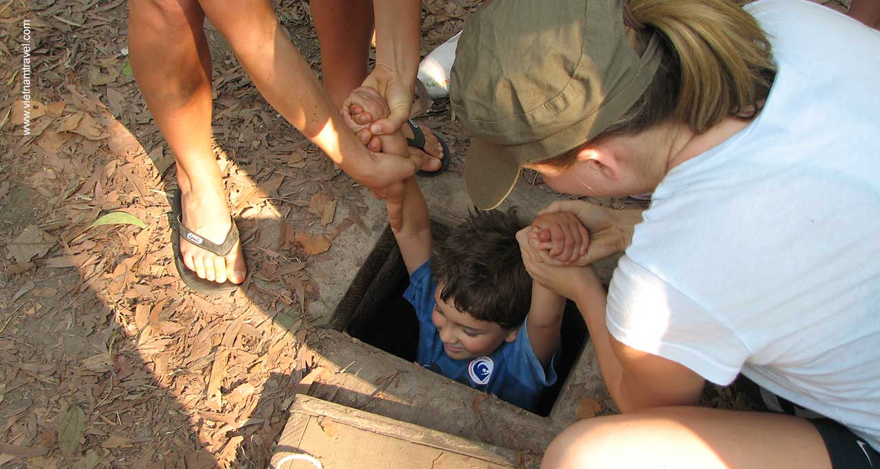 Day 2: Cu Chi Tunnels – Saigon City Tour.