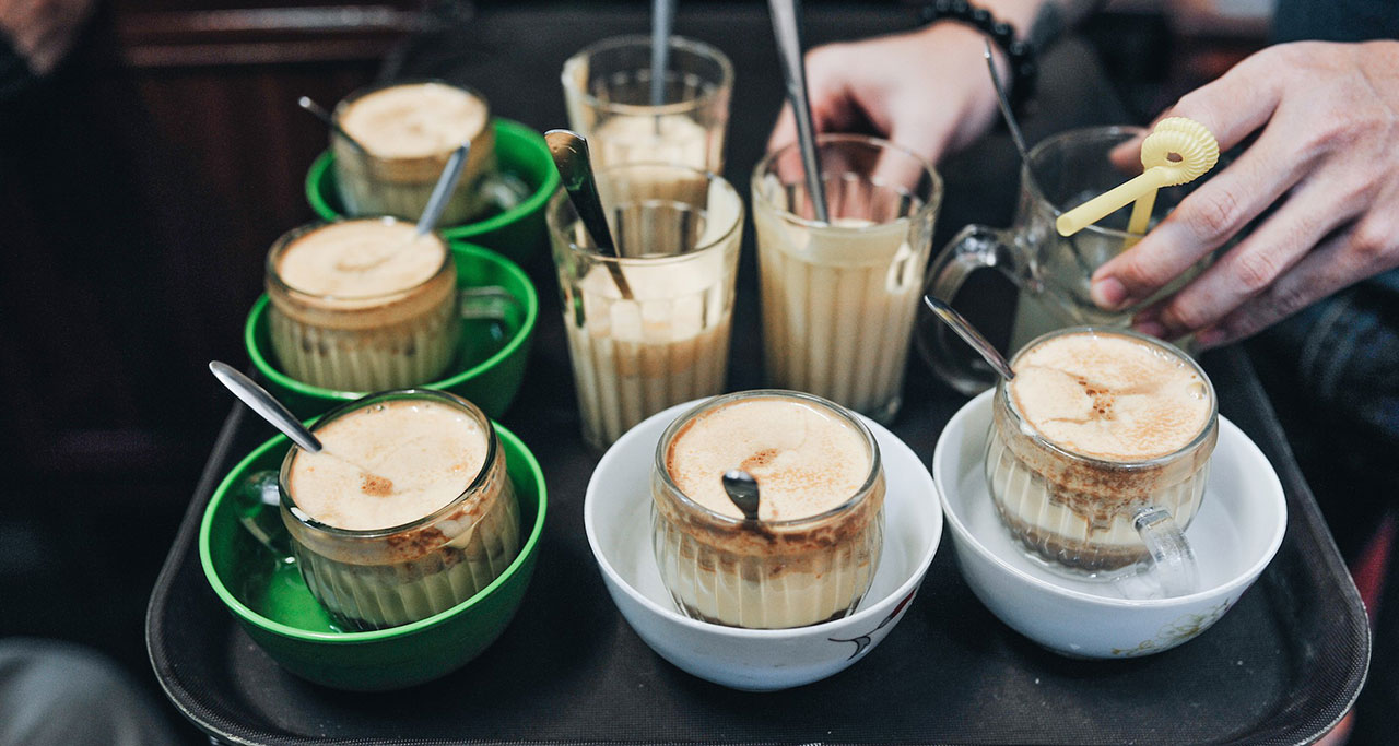 Try the egg coffee in Hanoi