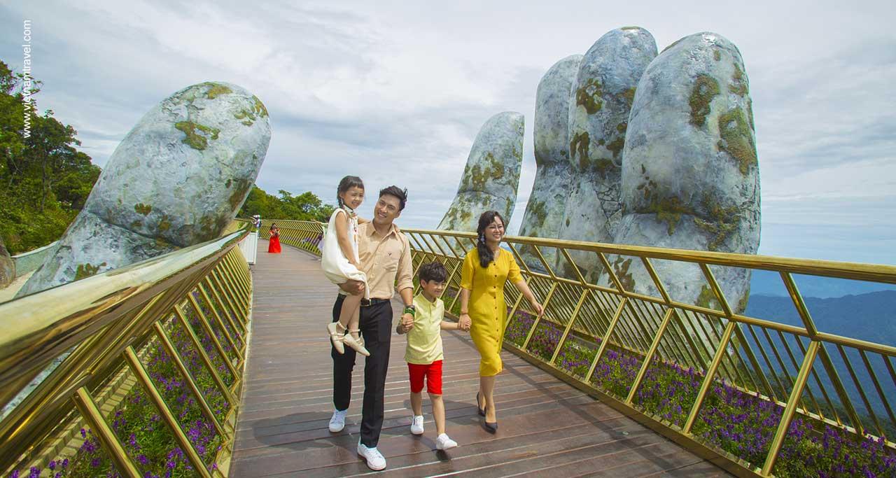 Golden bridge danang vietnam
