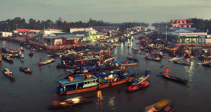 Nga Nam Floating Market - uniqueness of Mekong countryside