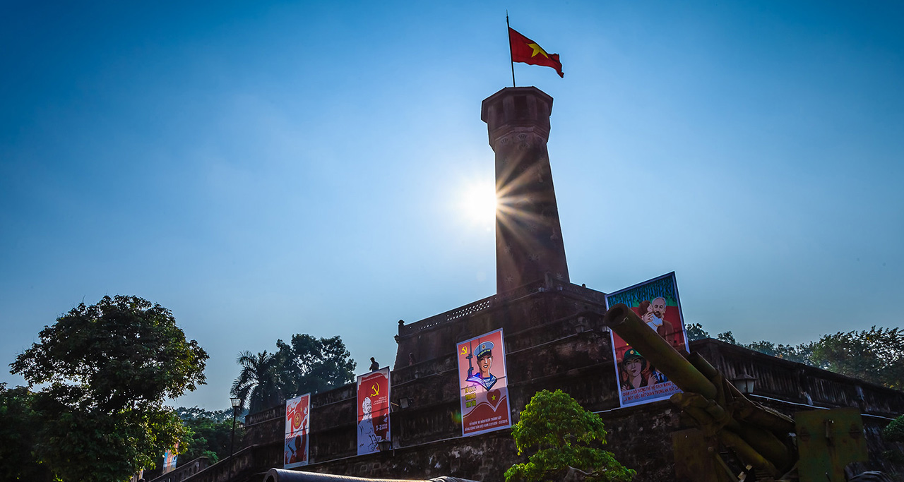 Hanoi Flag Tower - symbol of Vietnam Capital