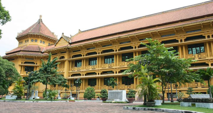 Vietnam National Museum of History is also one of the French Colonial architectural structures in Hanoi