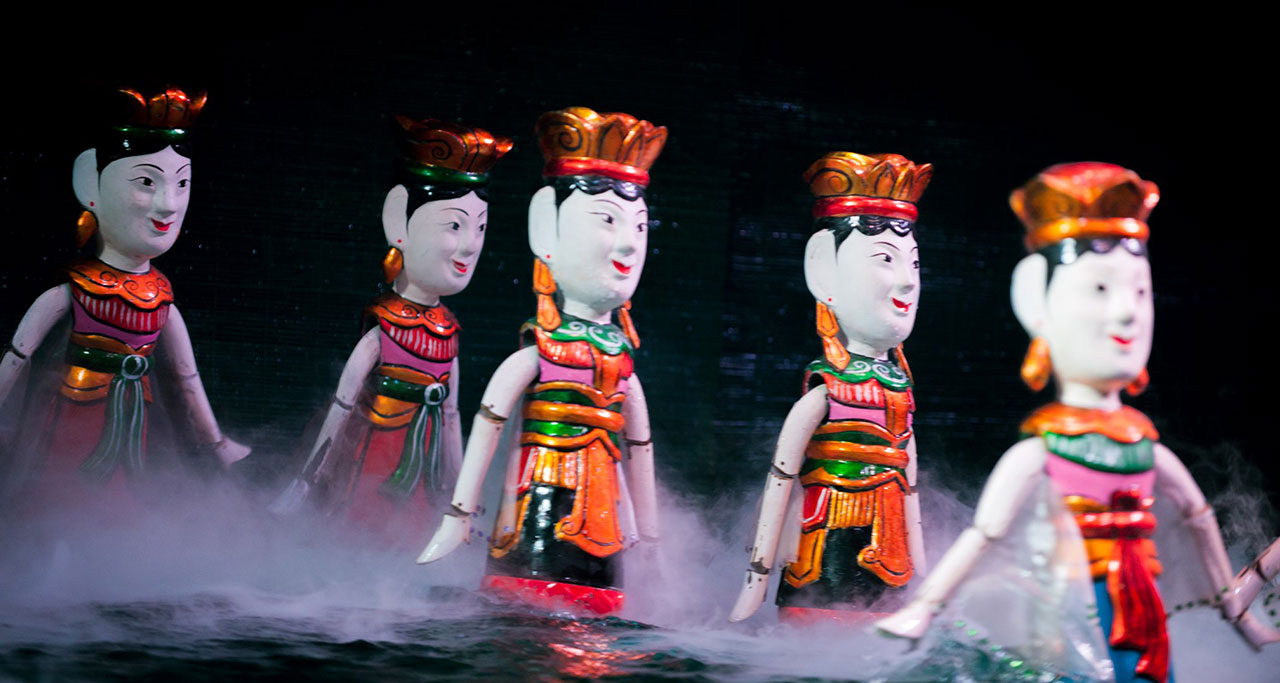Water puppet show - a traditional art form in Vietnam