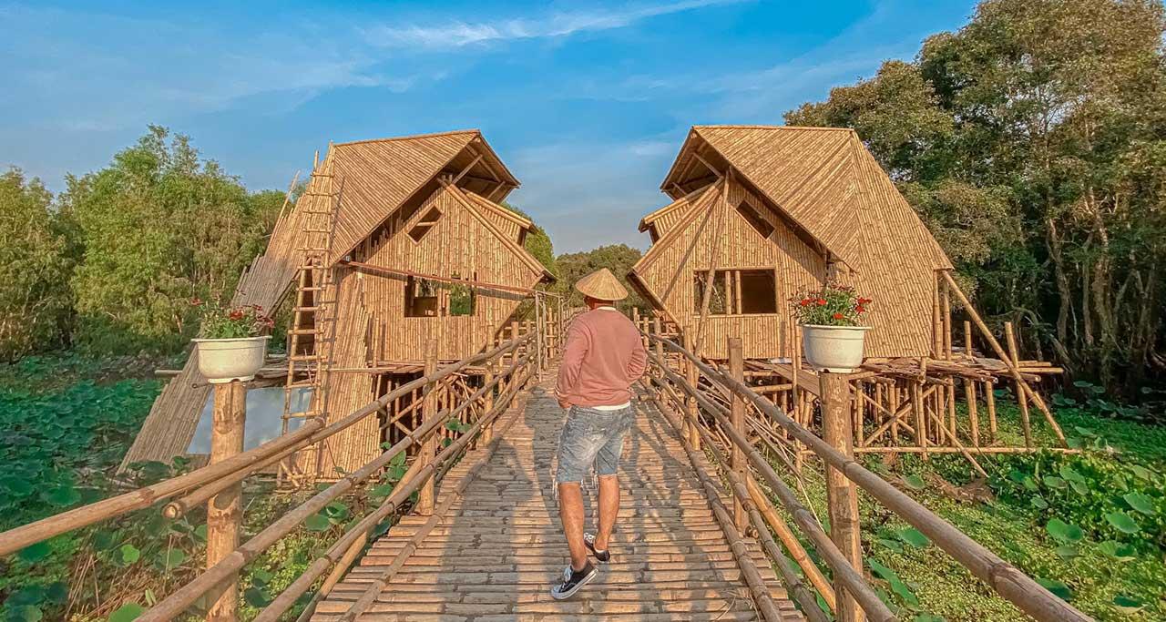 Vietnam's Longest Bamboo Bridge