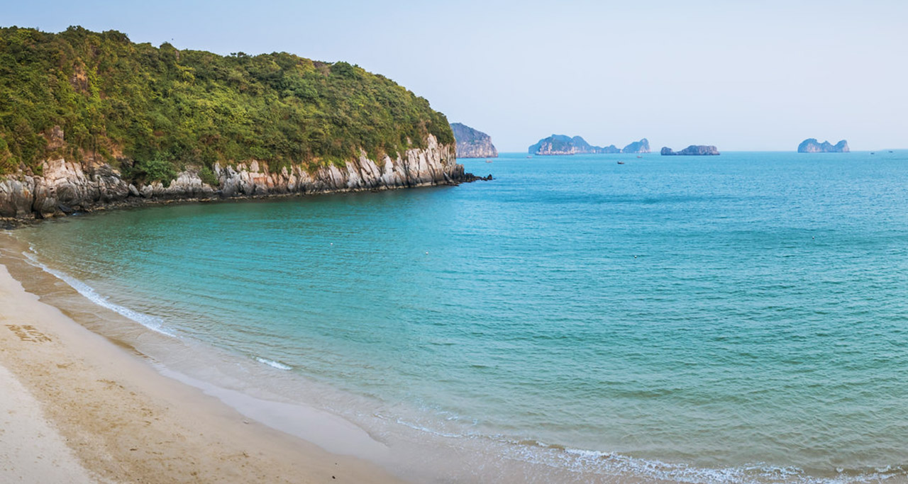 a beach in Cat Ba island