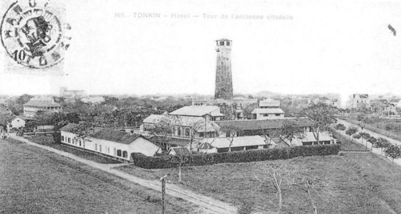 Old image of Hanoi Flag Tower