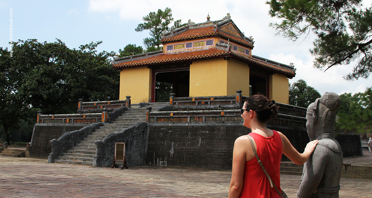 A corner of Ming Mang Mausoleum