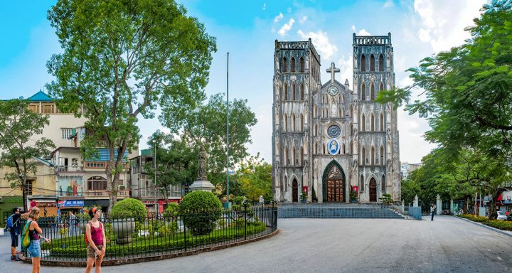 St. Joseph's Cathedral is the oldest church in Hanoi