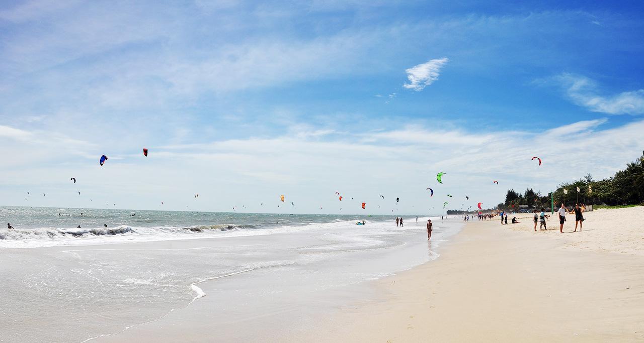 kite festival on a beach