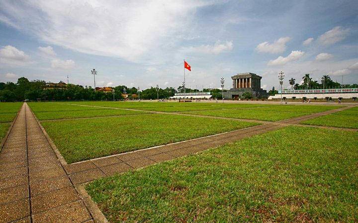 Ba Dinh square is located in front of Ho Chi Minh Mausoleum