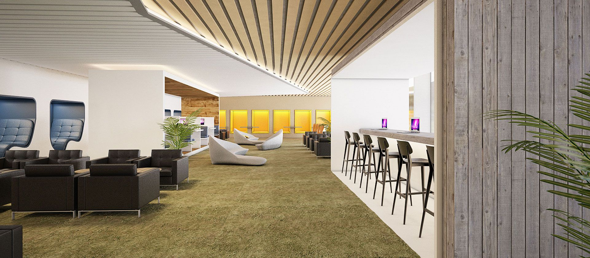 Fully-equipped CIP Orchid Lounge at international terminal (T2)