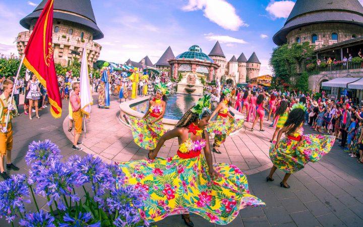 carnival festival in Ba Na hills