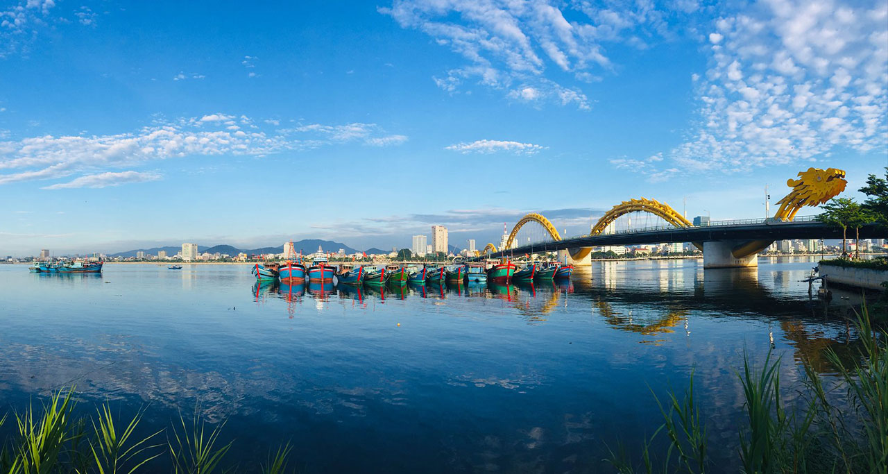 Dragon Bridge over Han River in Danang