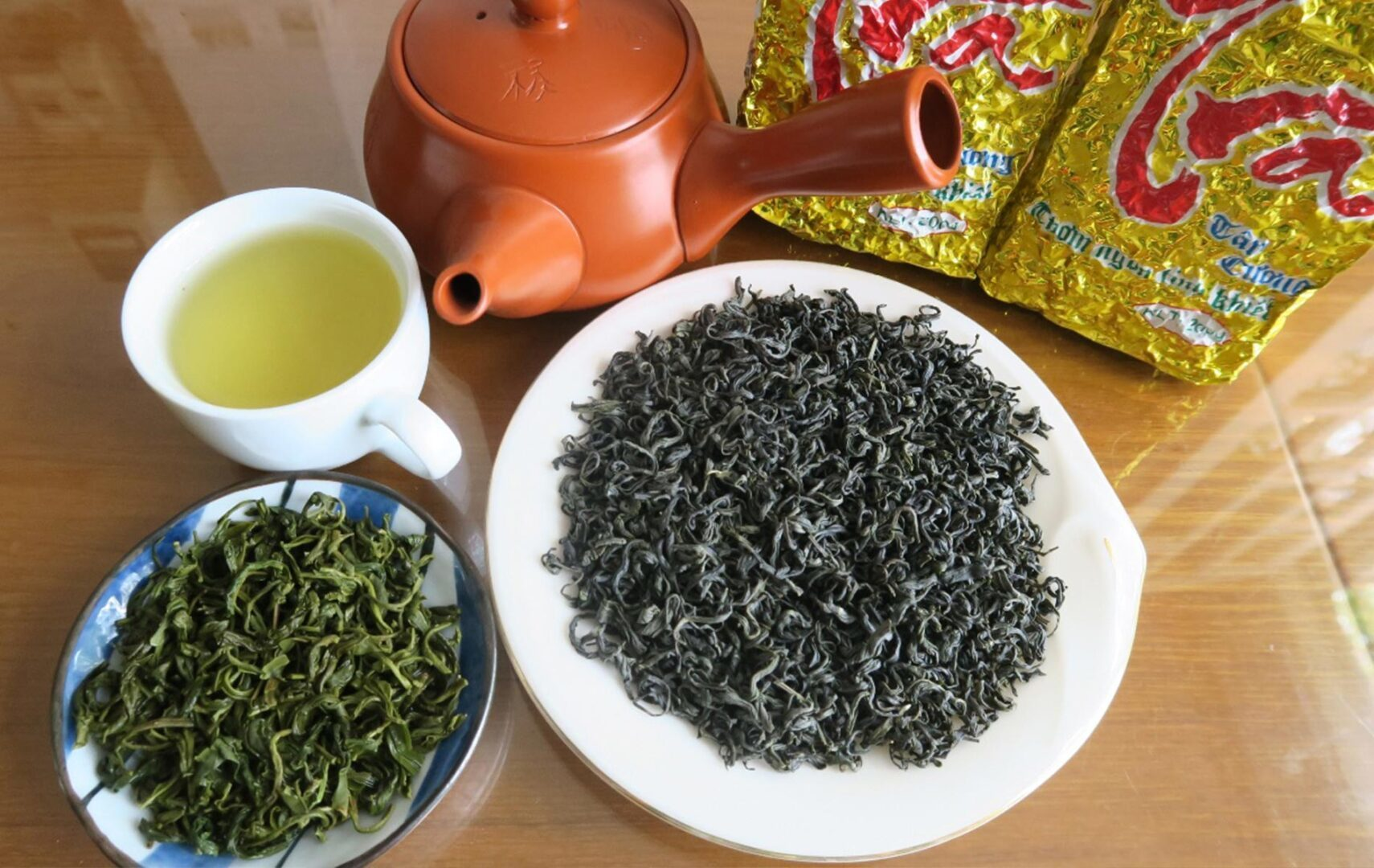 Green tea is the most popular tea type in Vietnam.