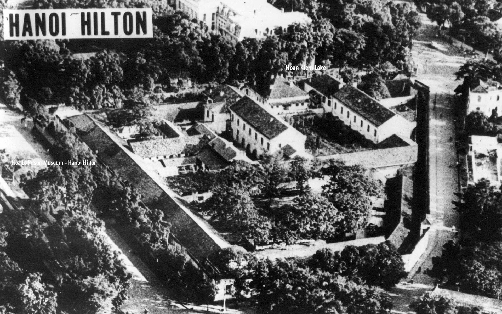 """The Hanoi Hilton"" from above. Picture taken on 1970"