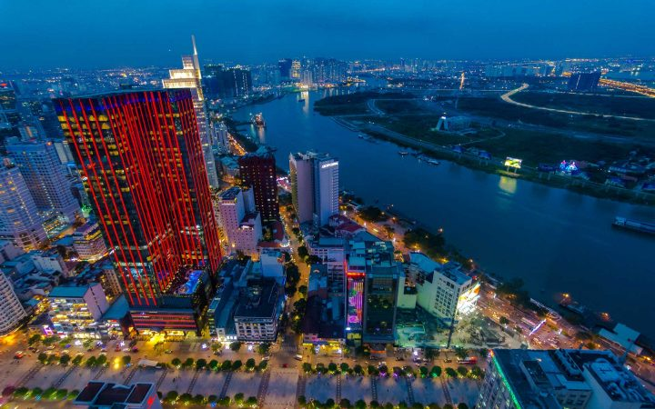 Sparkling view of Ho Chi Minh City by night