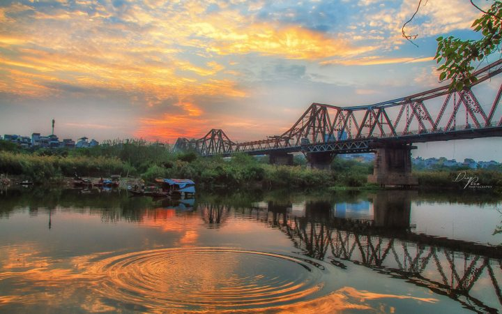 Long Bien Bridge - a French colonial architectural structure in Hanoi