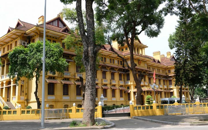 Vietnamese Ministry of Foreign Affairs is one of the rare examples of untouched French colonial era's architecture in Hanoi.