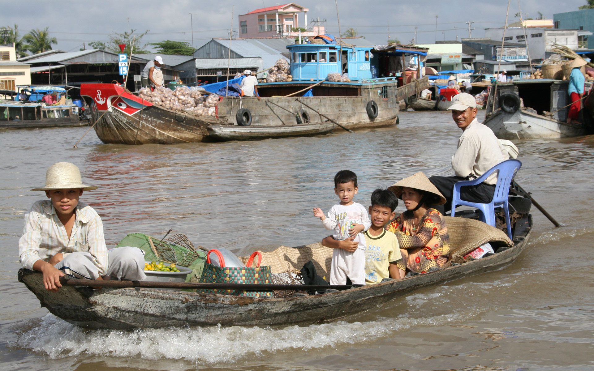 boating on Mekong river