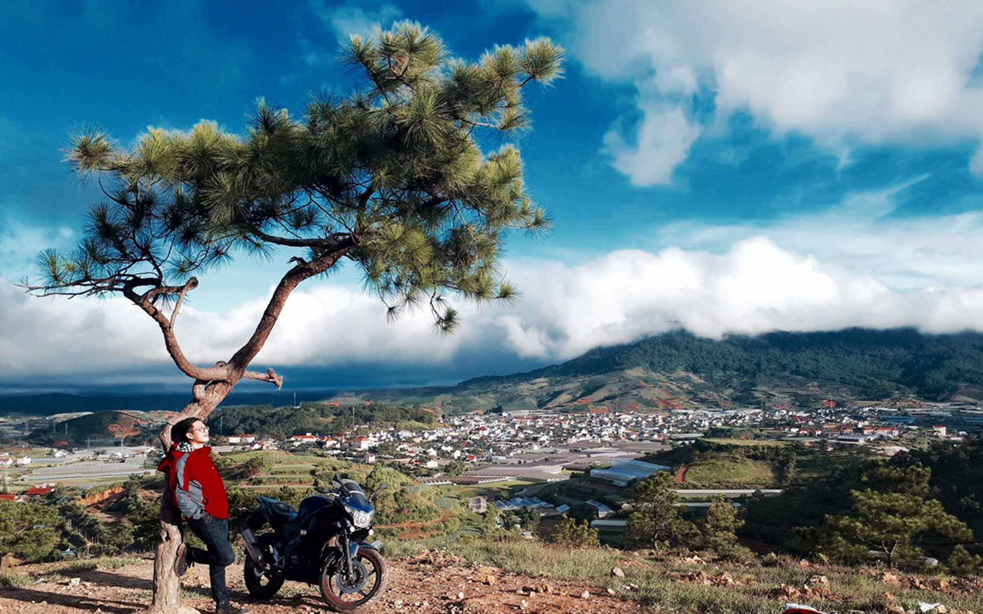 Travelling by motorbike