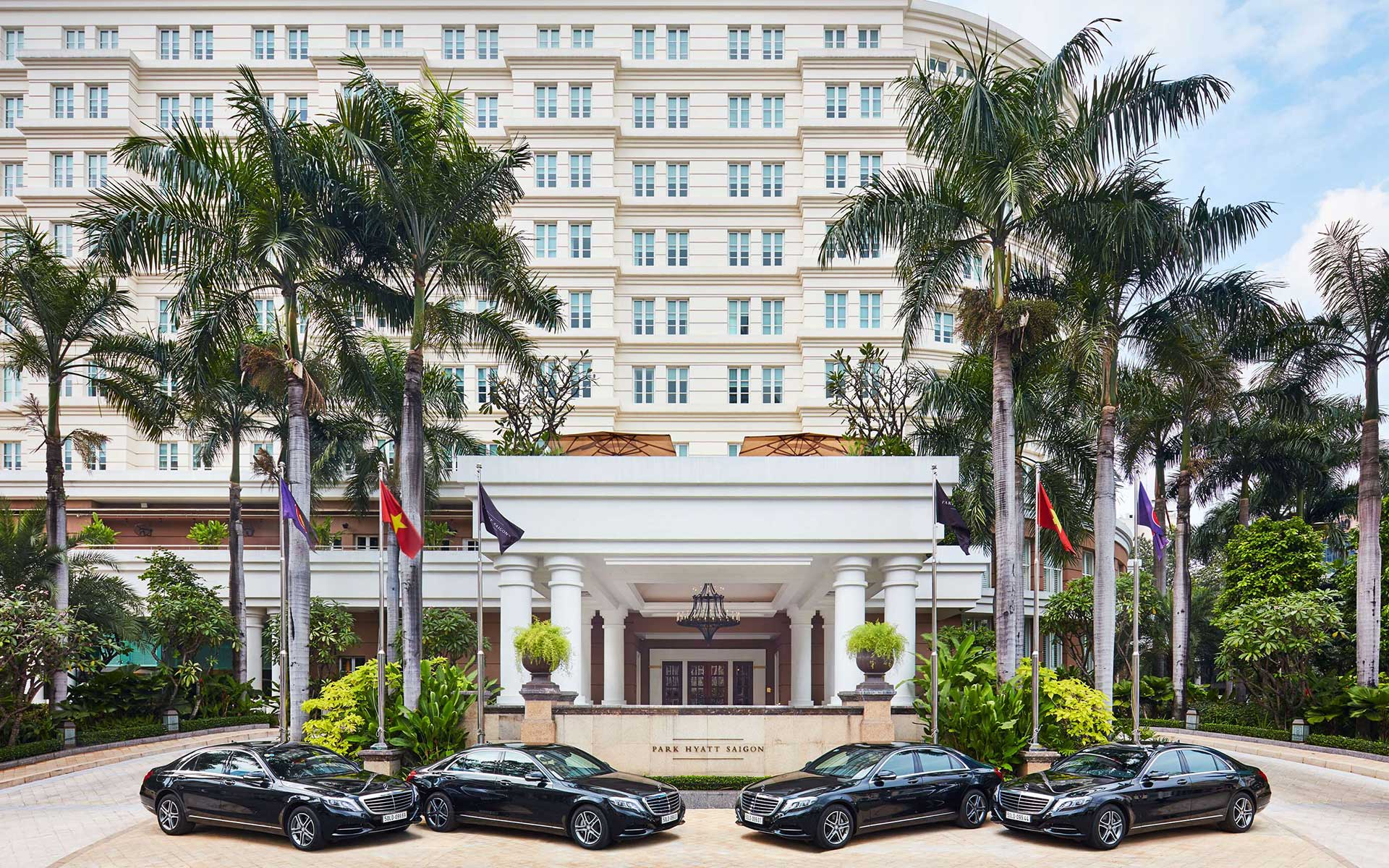 Main entrance to Park Hyatt Saigon