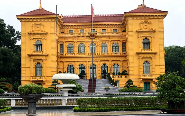 Presidential Palace is a souvenir of the French contribution to architectural splendor in Indochina