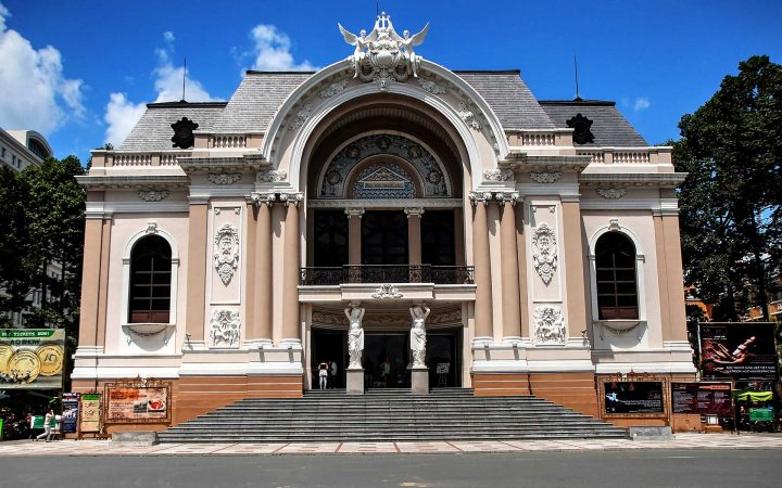 The Municipal Theatre or Saigon Opera House - one of Saigon's most ornate buildings in modern day.