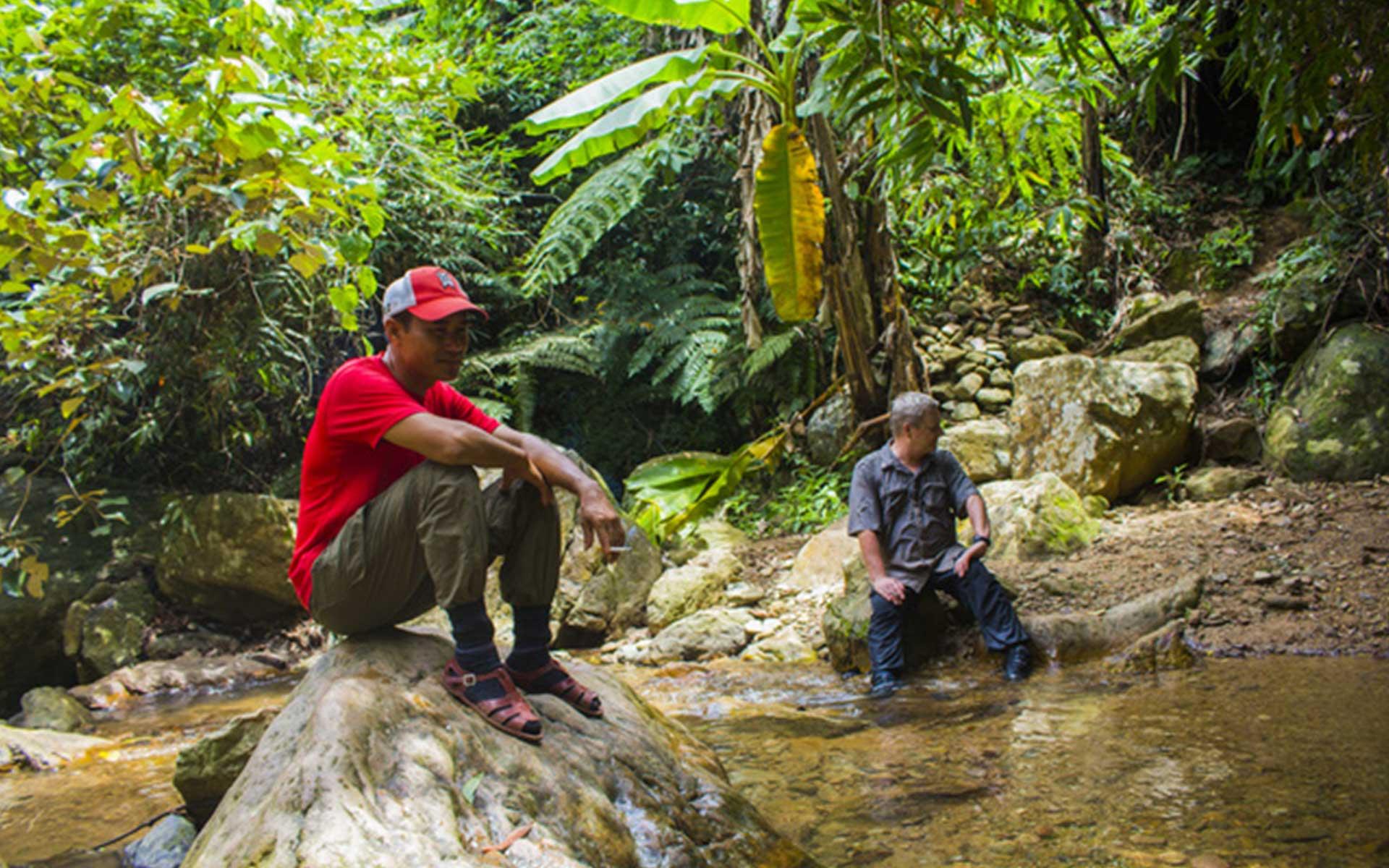 Jungle trekking before reaching Son Doong cave