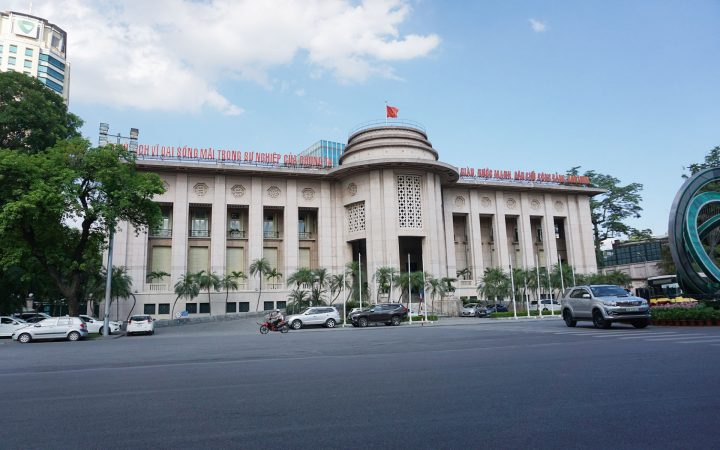 State Bank of Vietnam was formerly the French Indochina Bank headquarters in Hanoi