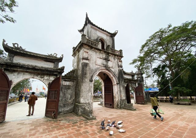 Main gate at Den Tran Temple