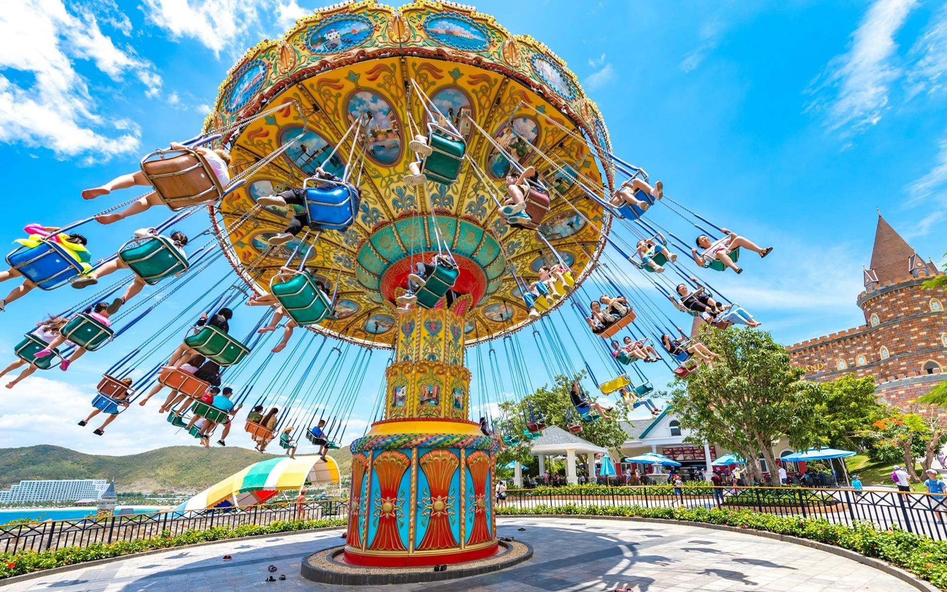 Vinpearl Amusement Park on Hon Tre Island brings a great day out for all the families with children or youngsters with high adventurous spirit.