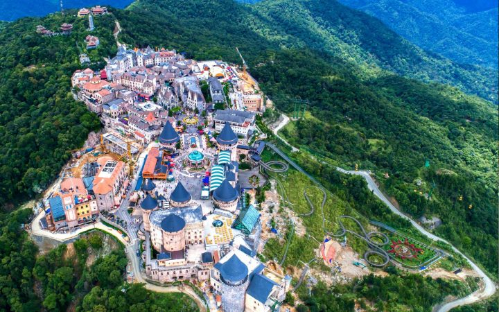 Ba Na hills from above