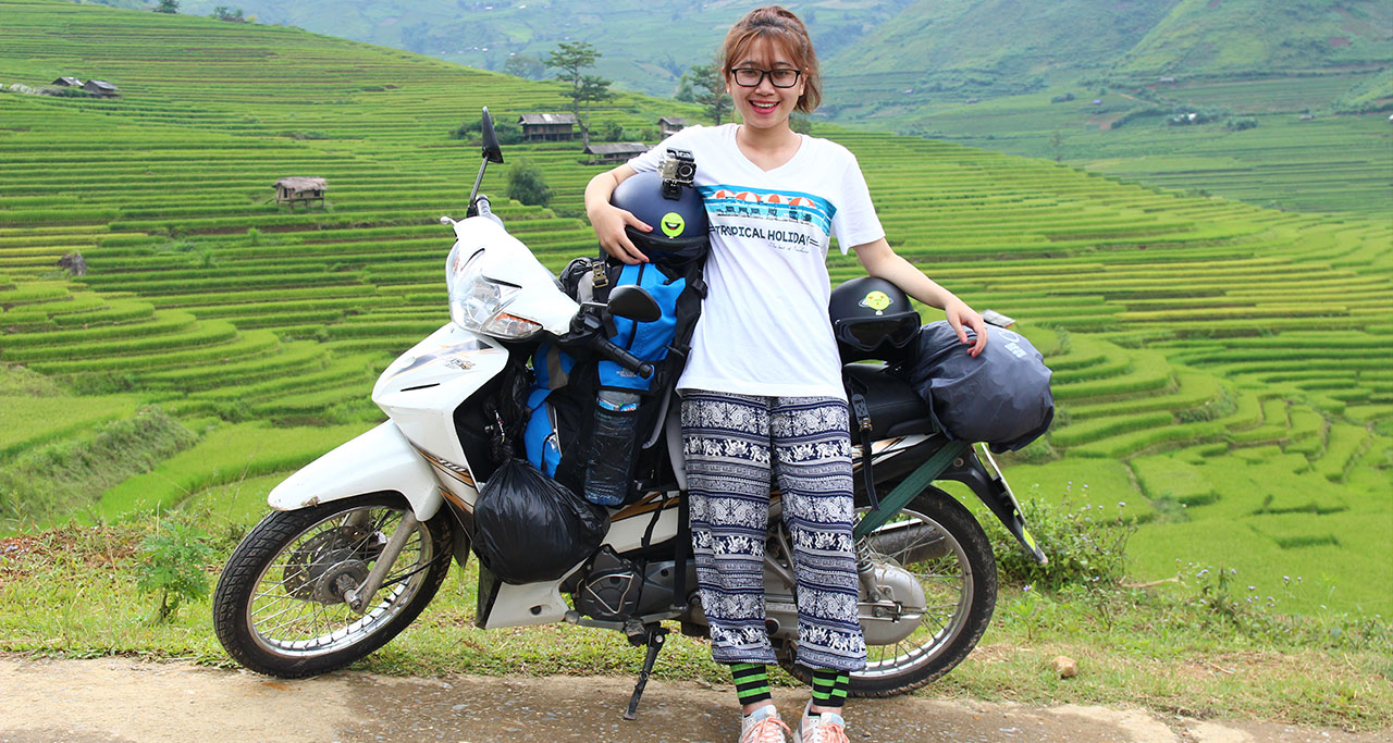 Traveling to Mu Cang Chai by motorbike