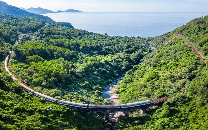 take a seat on train and experience the beauty of Vietnam's beaches