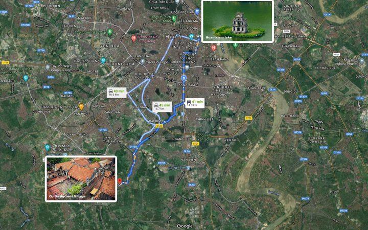 Get to Cu Da Ancient Village from Hanoi