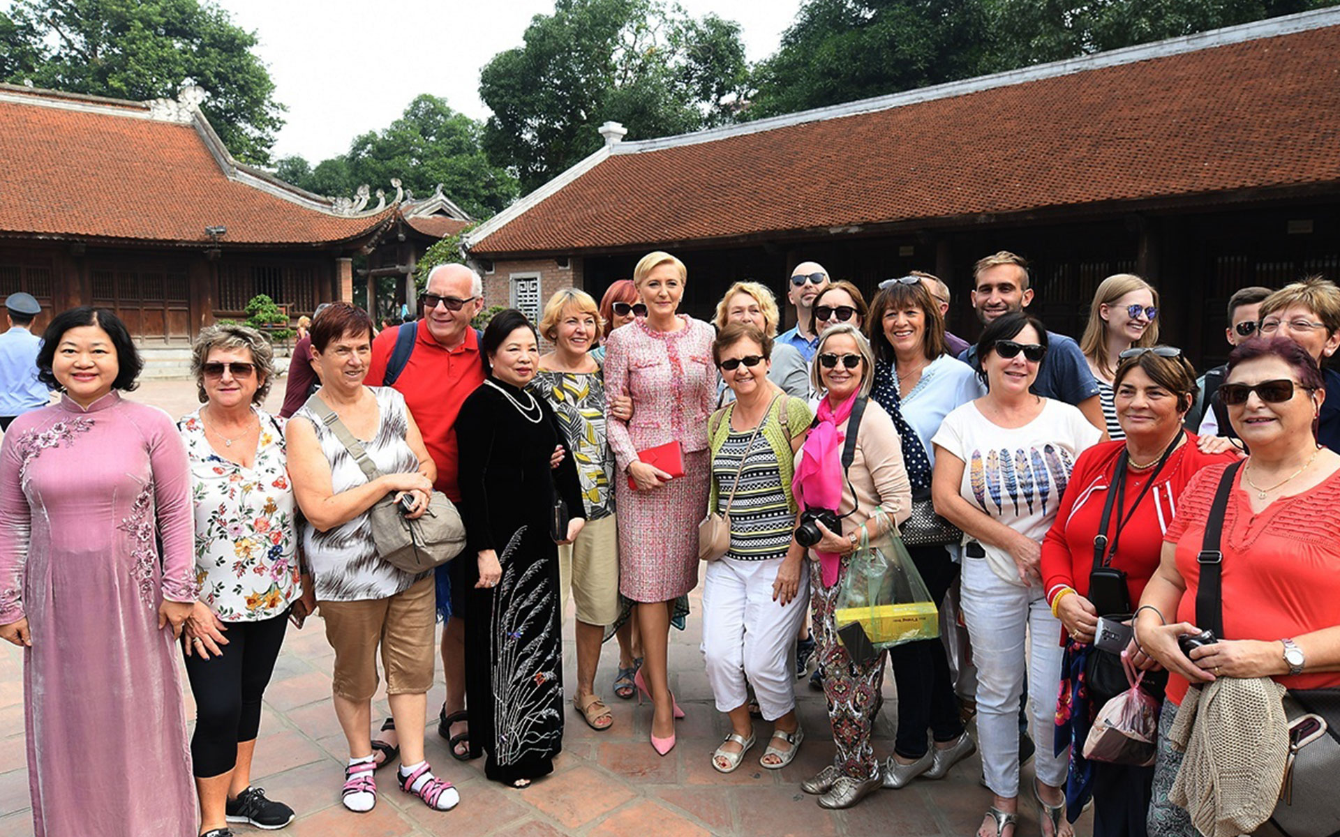 Polish President's wife, Agata Kornhauser-Duda, visited the Temple of Literature in 2017