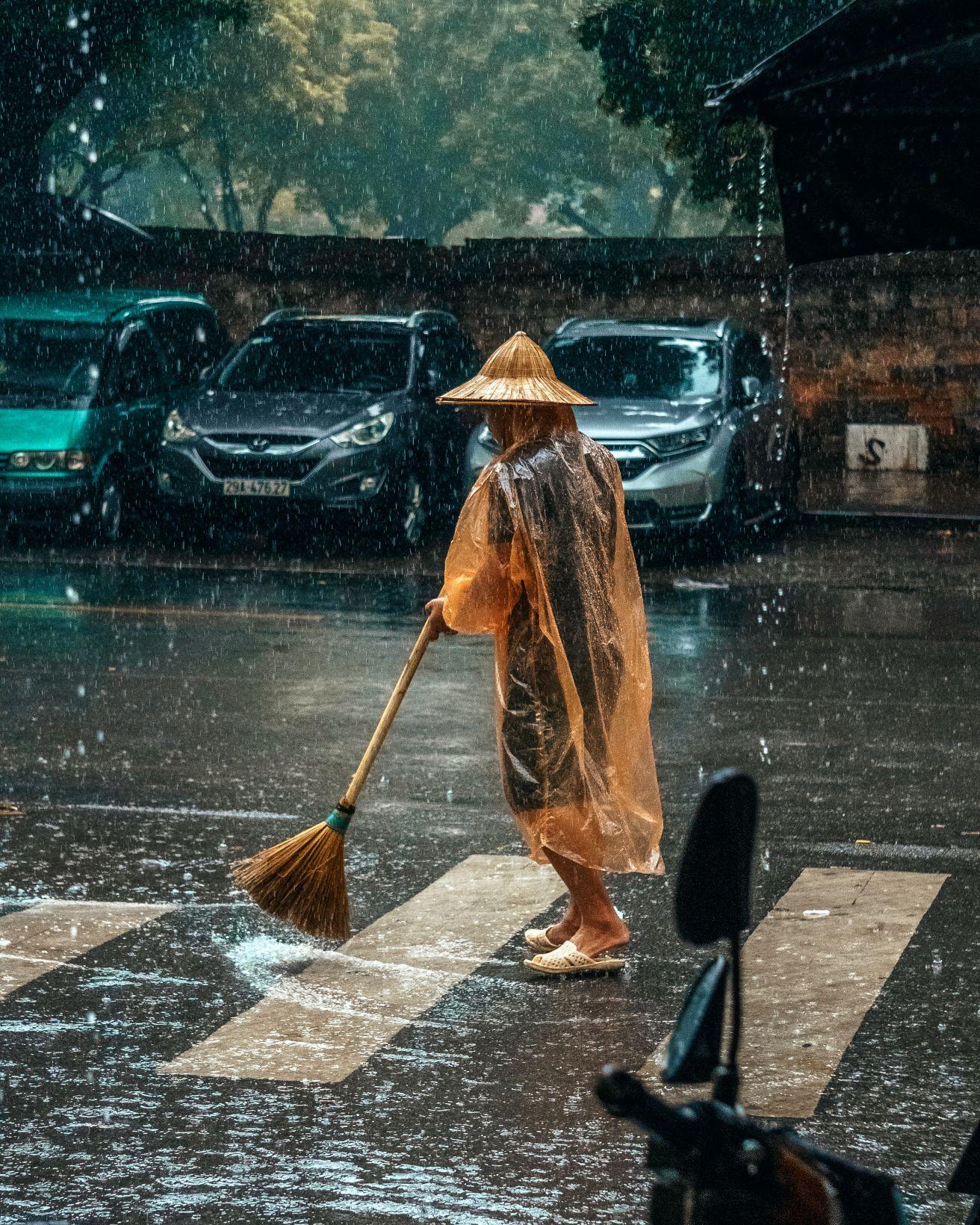 Unpredictable rain in July in Hanoi