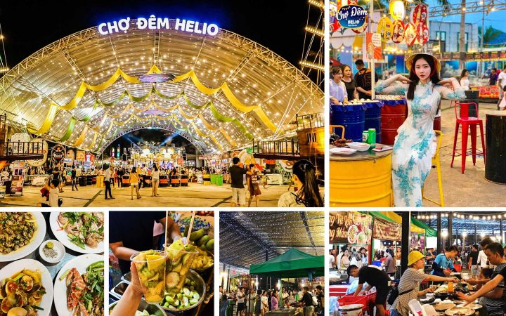 Helio – the largest night market in Danang, offers almost everything that youngsters think about nightlife.