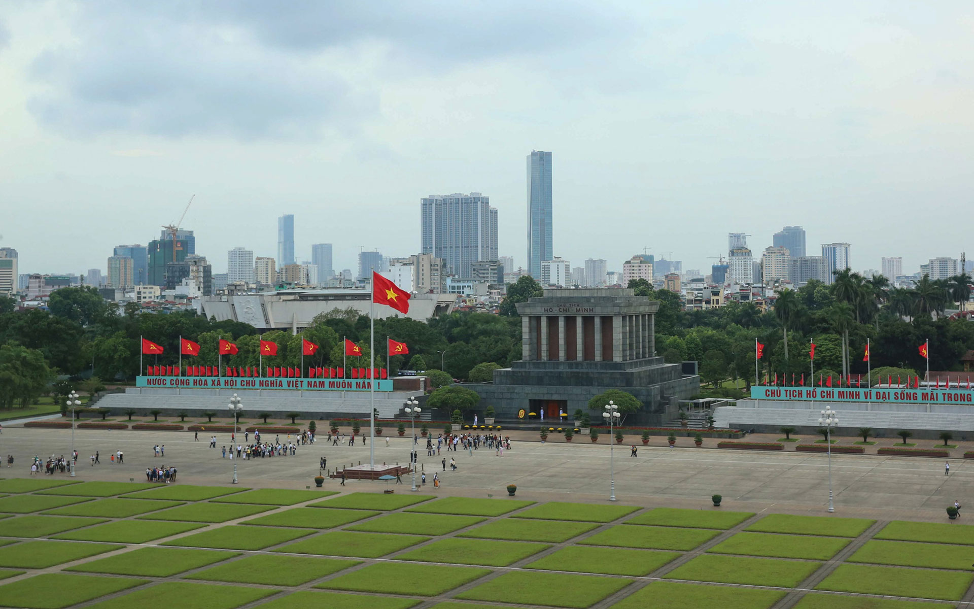 Ho Chi Minh Mausoleum from above
